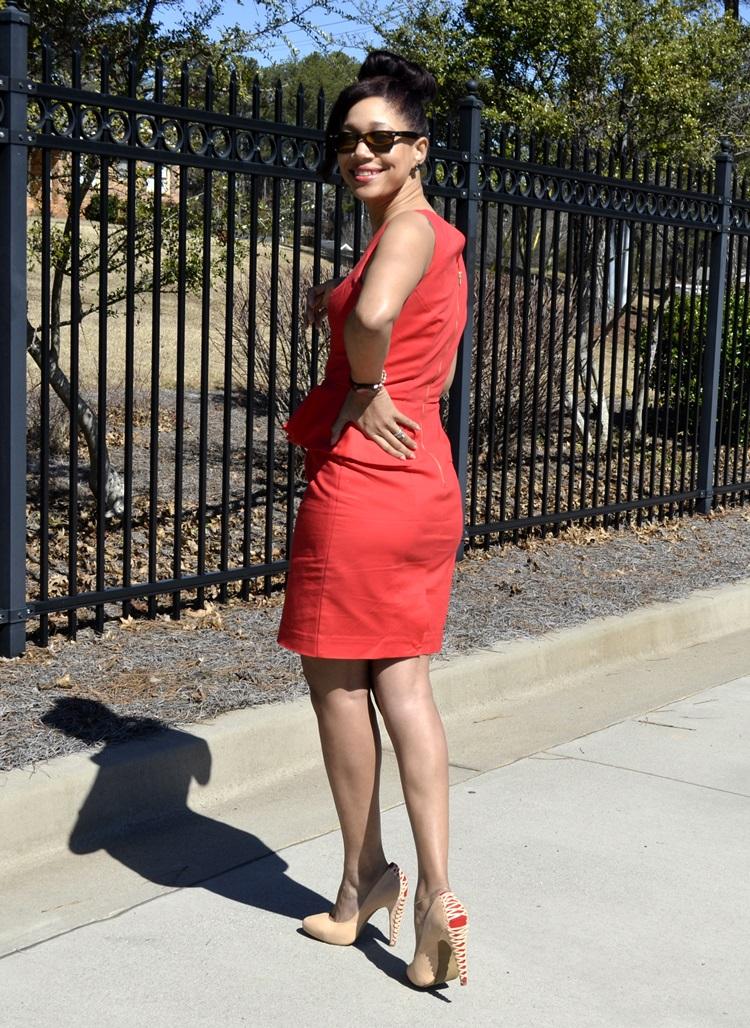 coral-peplum-dress