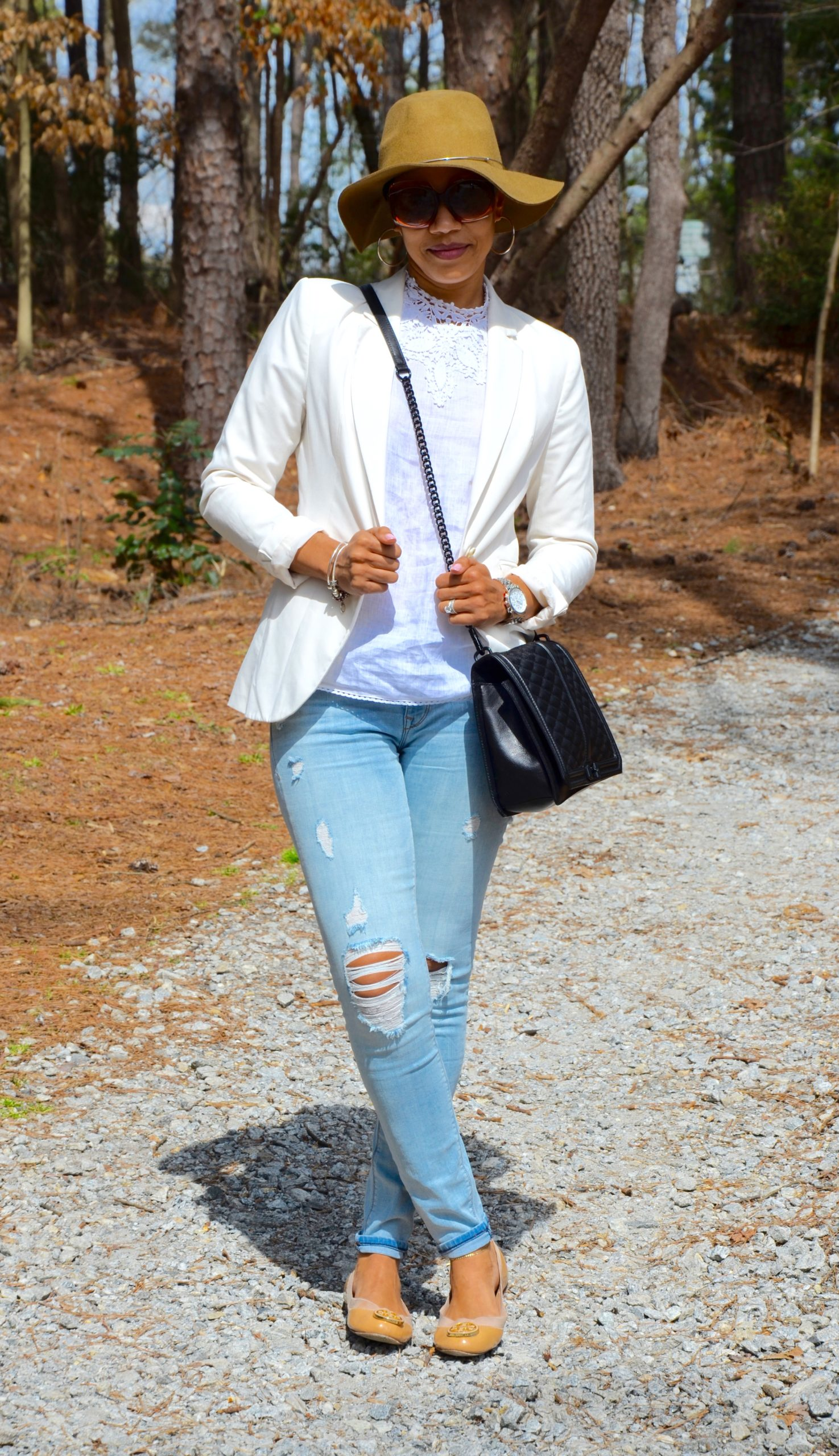 Distressed Denim + Linen